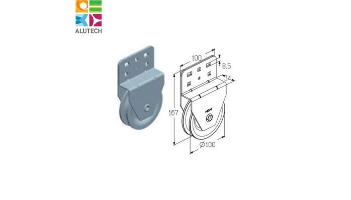 Блок ручного подъема Alutech HKU001