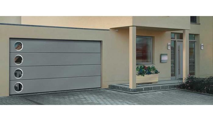 Купить автоматические секционные гаражные ворота Картек GSW DESIGNO