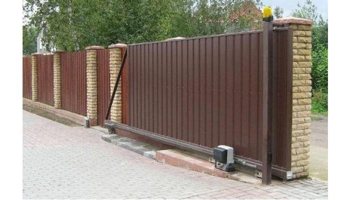 Откатные ворота оцинкованные