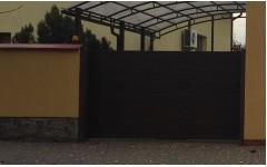 Откатные ворота с сендвич-панели