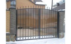 Распашные ворота поликарбонат